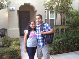 First day of school, August 2012