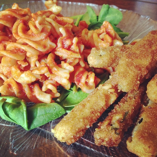 Gluten free pasta & gluten free fried zucchini
