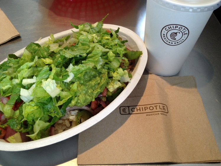 Meal #2 at Chipotle this week.