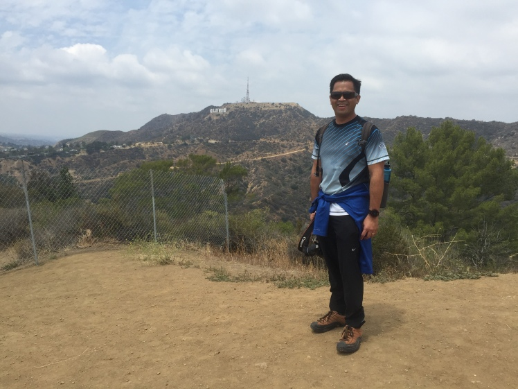 That's the Hollywood sign in the distance. I need to find they trail that gets up close behind the sign.