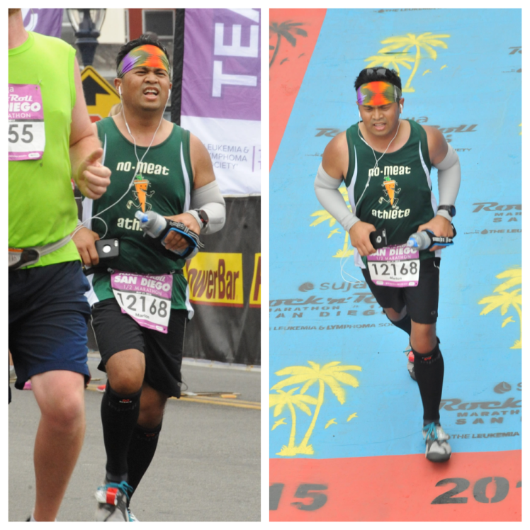 You can tell from my constipated expression that the finish was tough! Haha!