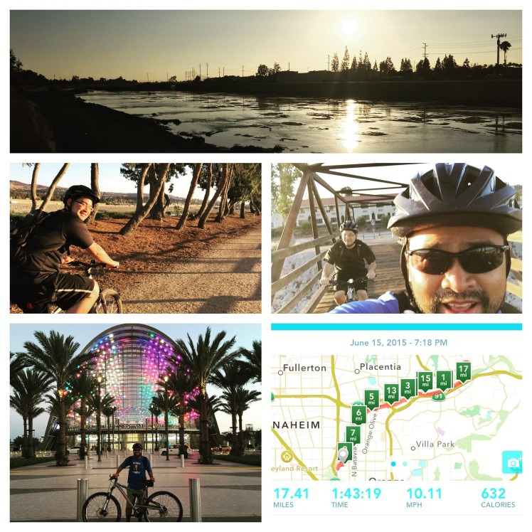 We rode our mountain bikes along the Santa Ana River Trail from Yorba Regional Park to the ARTIC (Anaheim Regional Transportation Intermodal Center) and back.