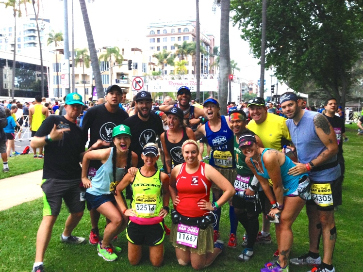 The #WeRunSocial crew before the Full Marathon. Unfortunately, I don't have a copy of the group photo taken before the Half Marathon. :/