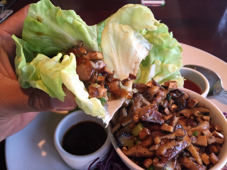 This gluten free vegan enjoyed the mushroom lettuce wraps at the Yard House. Yum!