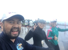 Running in the rain during the OC Half